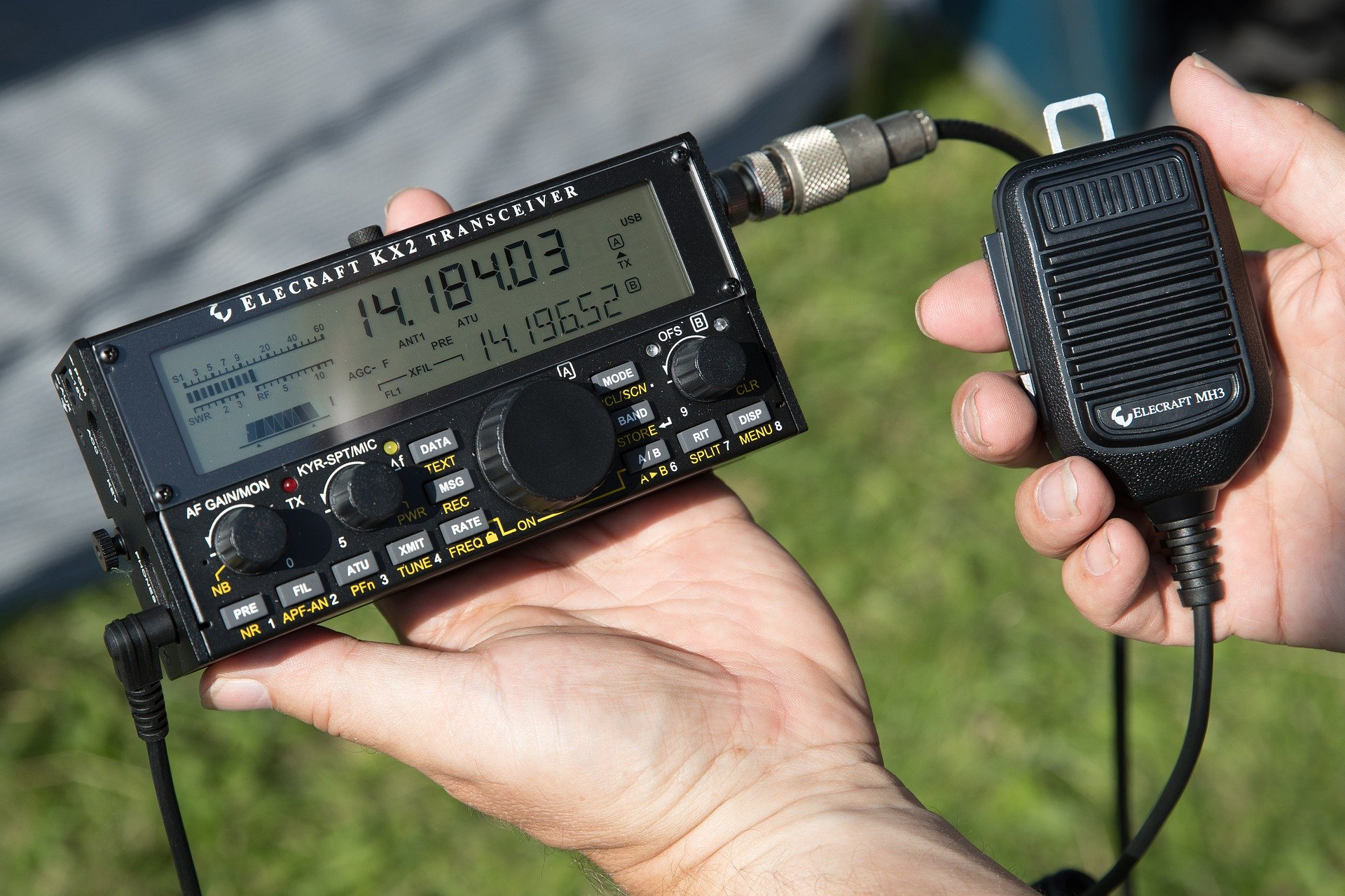 The faceplate of a HAM radio