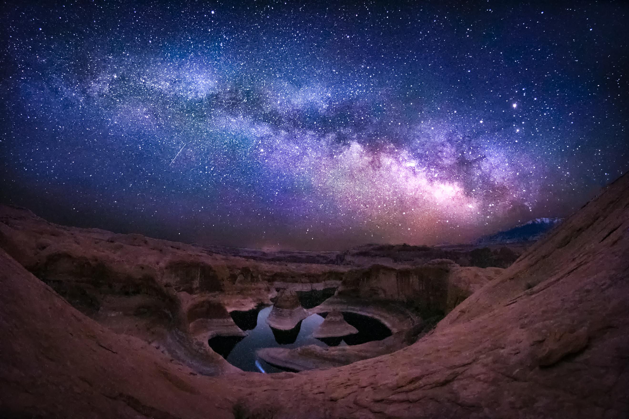 Milky Way reflection by Sarah Shumaker